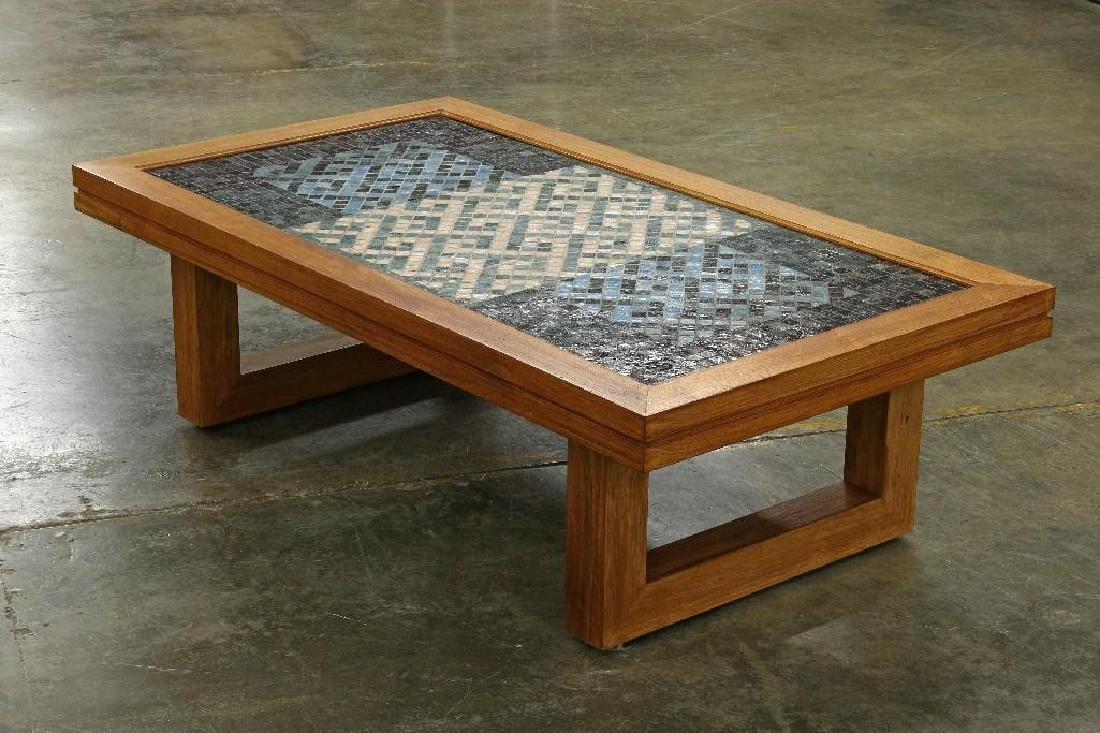 Denis O'Connor California Artist Mosaic Art Panel Table