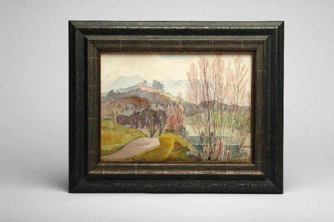 Pierre Bonnard Attributed Landscape Watercolor on Paper