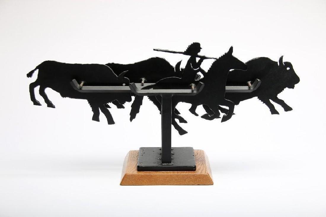 Charles Ringer Kinetic Sculpture Buffalo Hunt 1987