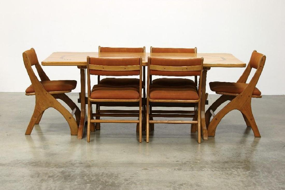Norman Ridenour Artisan Studio Dining Table 6 Chairs