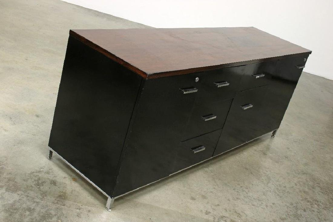 Monteverdi Young Lacquered Credenza Steel Rosewood Top