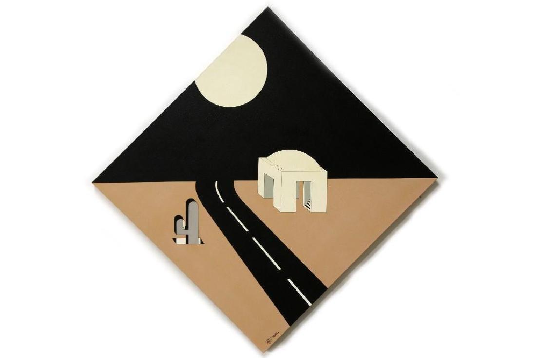 Terry Allen Rubin New Mexico 'Road House' Desert Scene