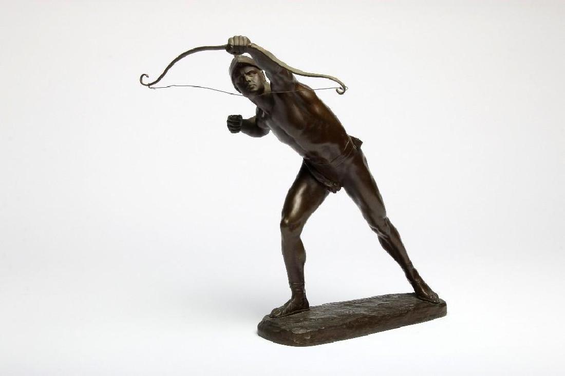 Austrian Bronze Victor Heinrich Seifert Archer Figure