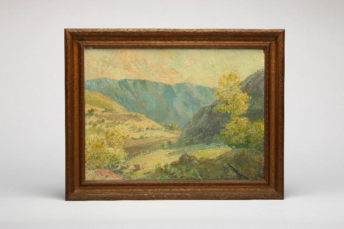 Anna Althea Hills attr. 2 California Landscape Painting