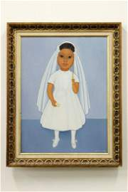 Gustavo Montoya Mexico Oil on Canvas Child First