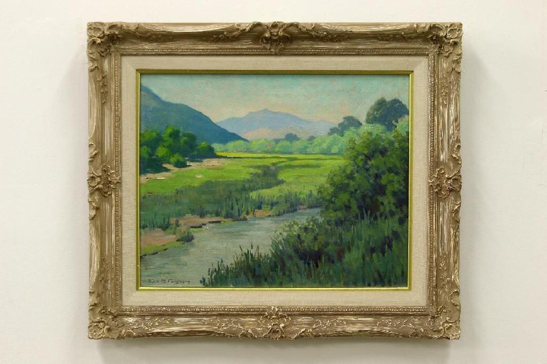 Eva D Ferguson California Landscape with Stream Oil