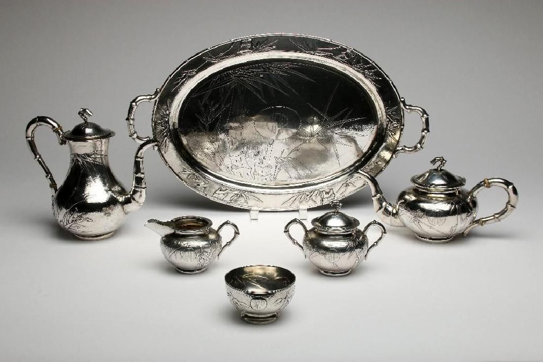 Vintage Chinese Export Sterling Silver Tea Service