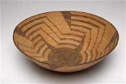 Native American Indian Patterned Woven Basketry Bowl