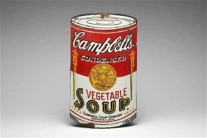 Campbells Soup Advertising Convex Porcelain Metal Sign