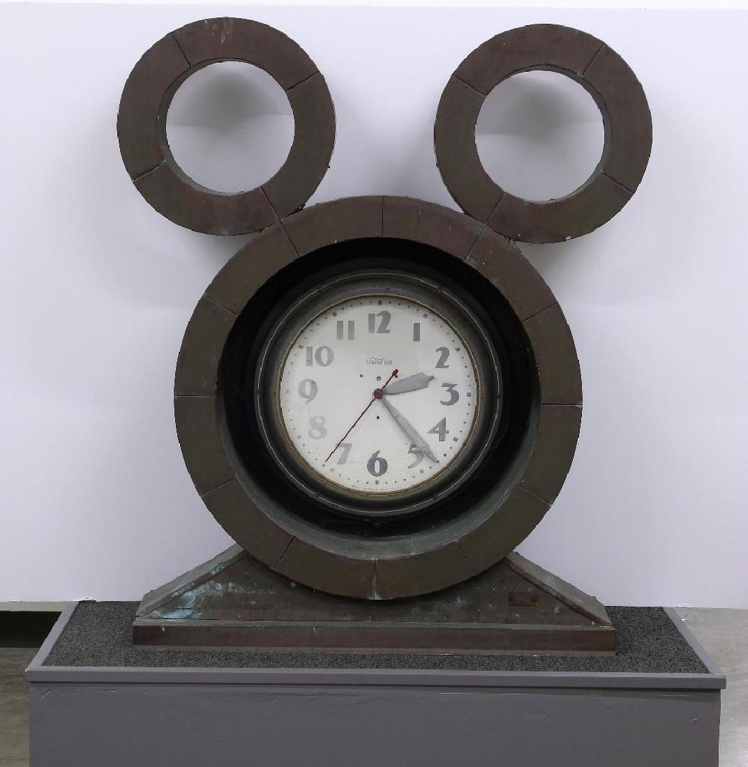 Telechron Neon Clock Disney Inspired Copper Mouse Ears