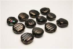 Doyle Lane MCM Studio Pottery Beads, Iridescent, 12