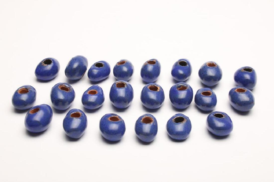 Doyle Lane MCM Studio Pottery Beads, Cobalt Blue 22