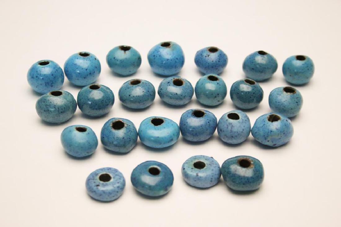 Doyle Lane MCM Studio Pottery Beads, Robins Eggs, 22