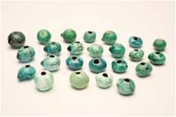 Doyle Lane MCM Studio Pottery Beads Turquoise Blue 24