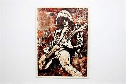 Shepard Fairey Obey Johnny Ramone Red Screen Print