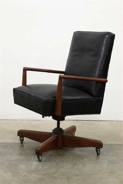 - Vintage Leather Executive Desk Chair