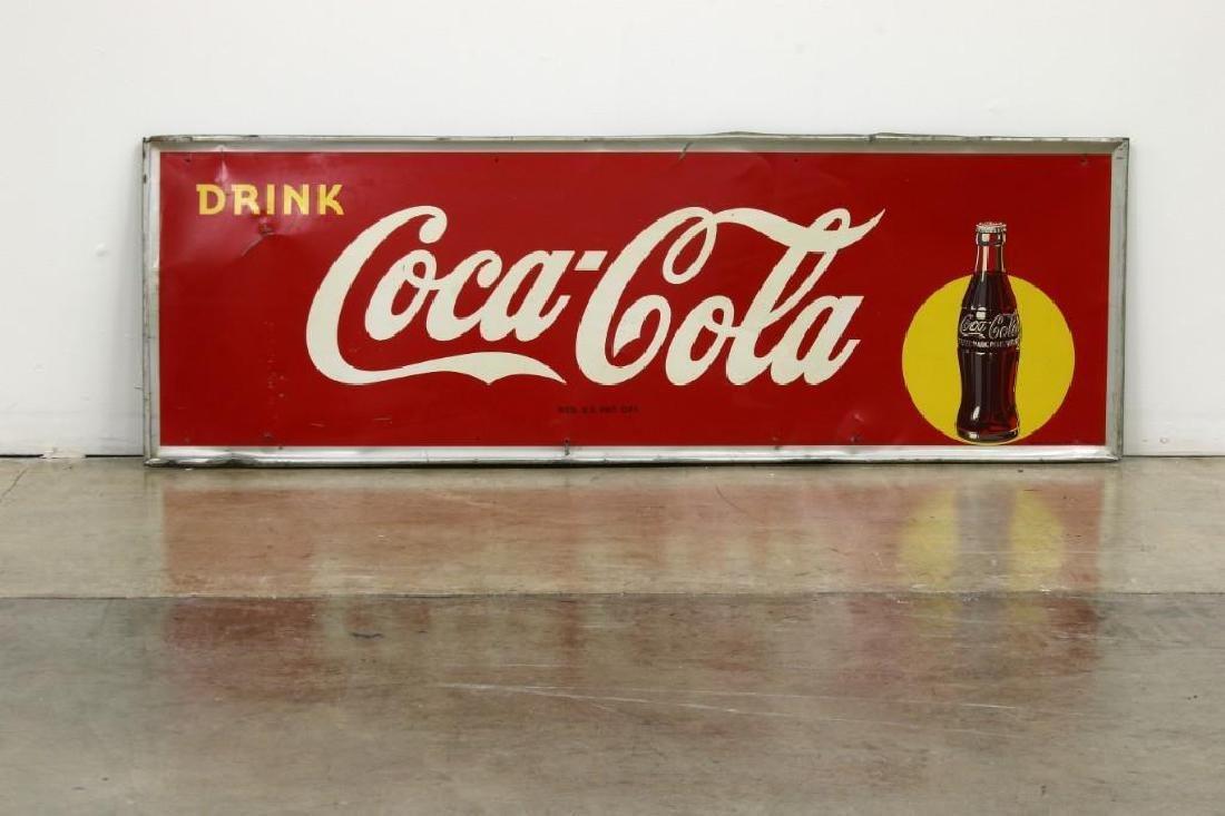 Vintage RSC Pressed Metal Coca Cola Advertising Sign