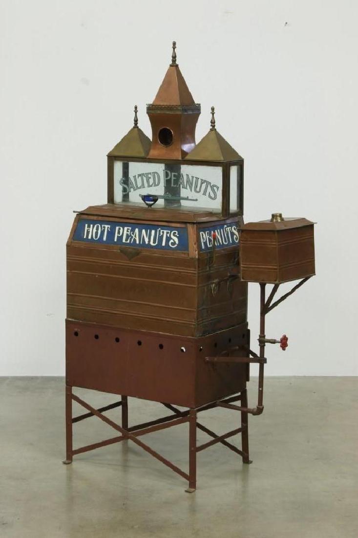 WB Berry & Co 1890s Copper Hot Peanut Roaster Cart