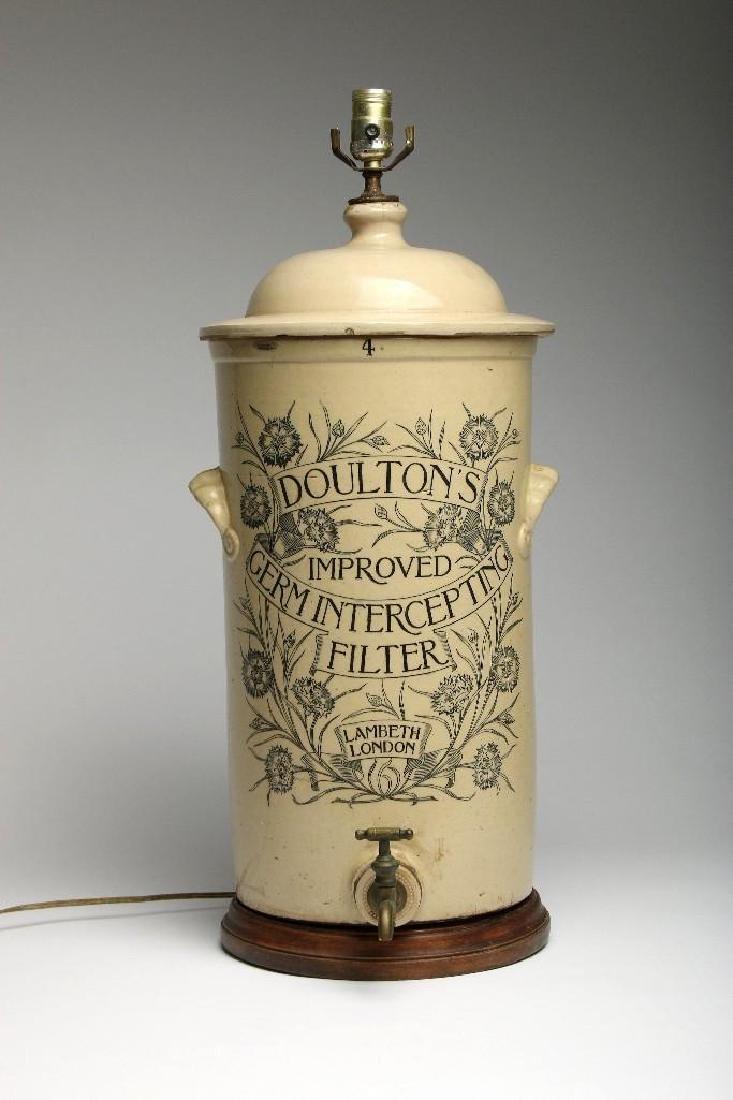 English Doulton Stoneware Water Filter Lamp