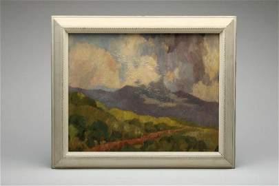 Maurice Braun California Landscape Oil On Board