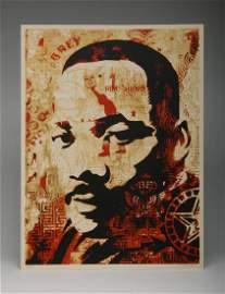 Shepard Fairey MLK Jr. 2005 Screen Print 82/300