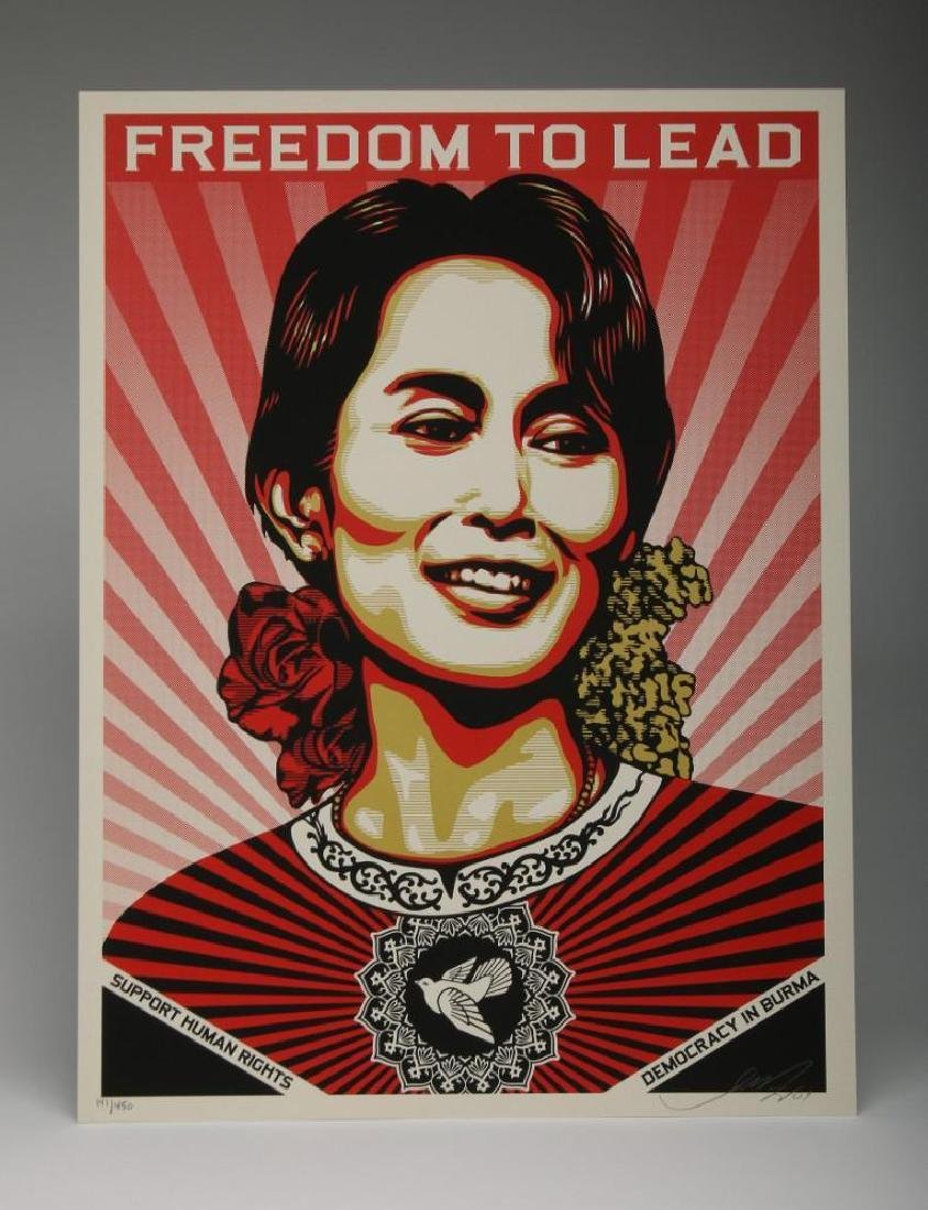 Shepard Fairey Aung San Suu Offset 2009 Screen Print