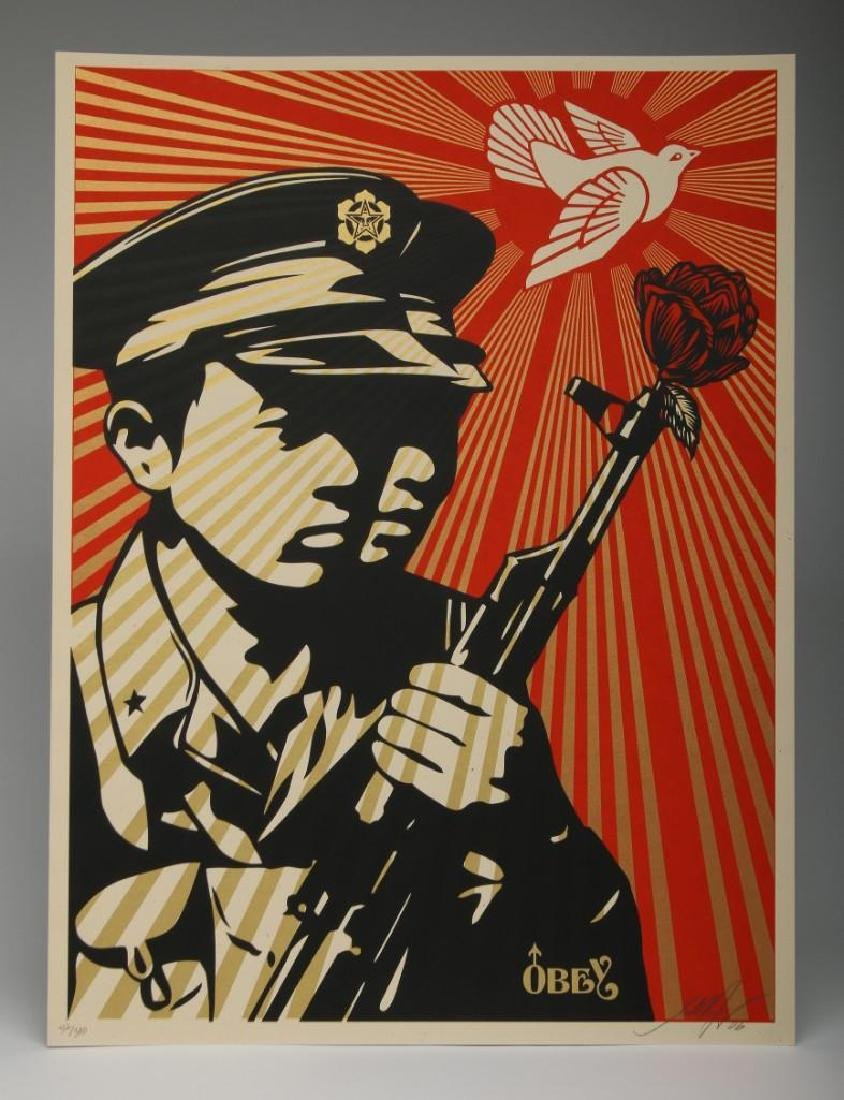 Shepard Fairey Chinese Soldiers 2006 Screen Print