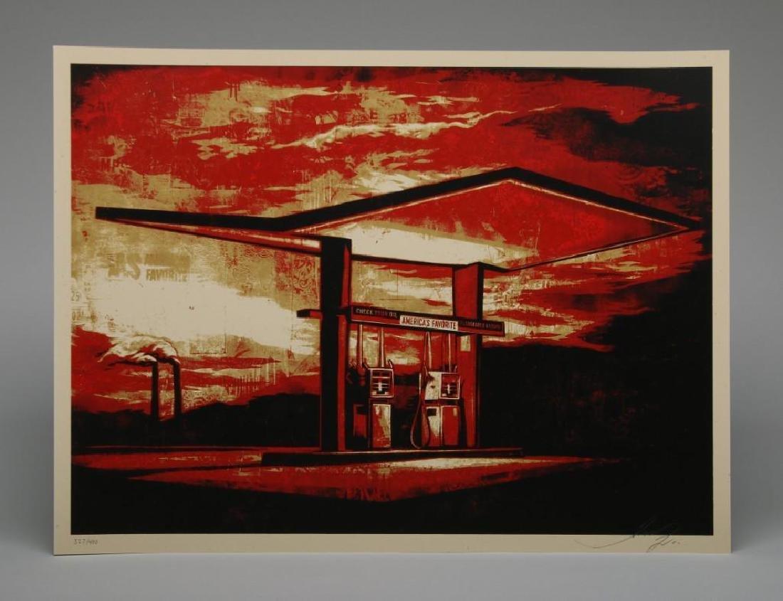 Shepard Fairey America's Favorite Red 2010 Screen Print