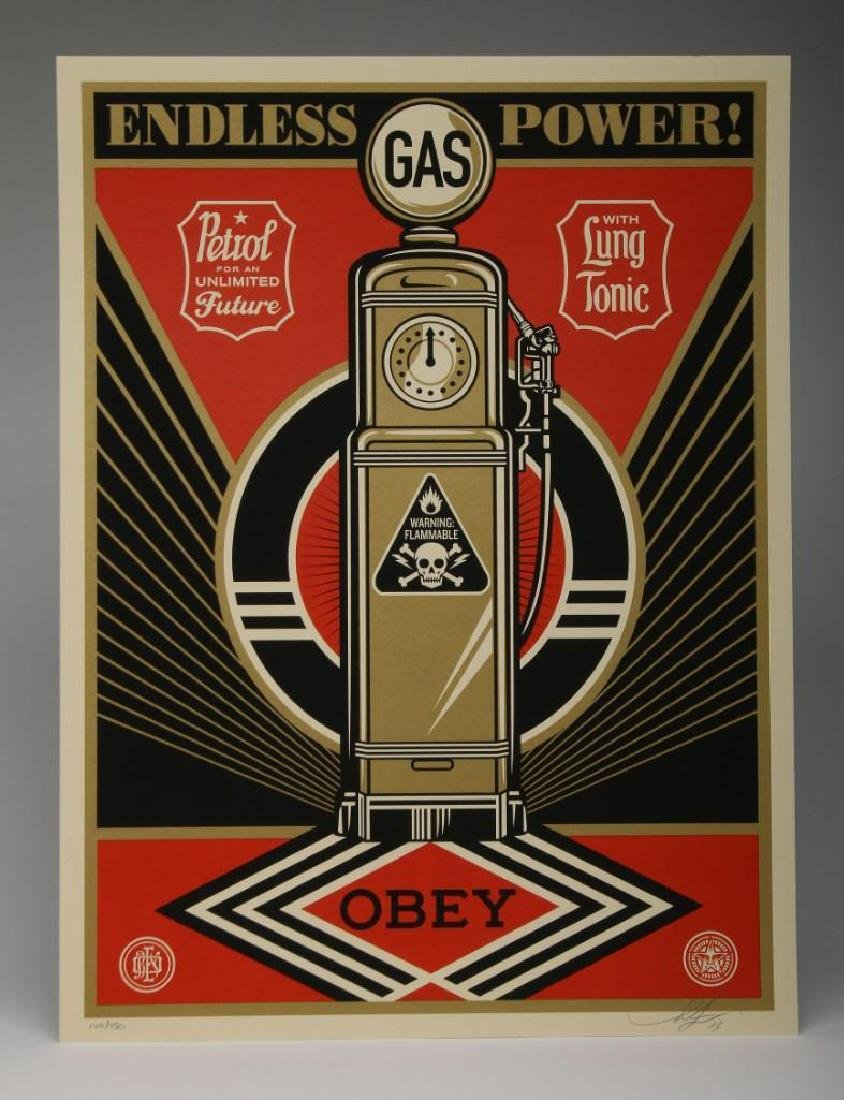 Shepard Fairey Endless Power 2013 Screen Print 140/450