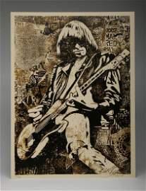 Shepard Fairey Johnny Ramone 2008 Screen Print 126/300