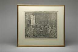 Hogarth Marriage A La Mode Plate I Engraving