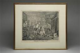William Hogarth Marriage a la Mode Plate V Engraving