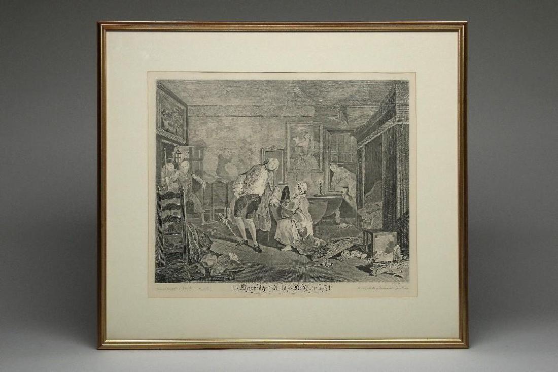 William Hogarth Marriage a la Mode, Plate V Engraving