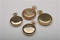 Group of 4 18K and 14K Gold Pocket Watches