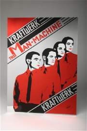 Vintage Kraftwerk The Man Machine Capitol Metallic Foil