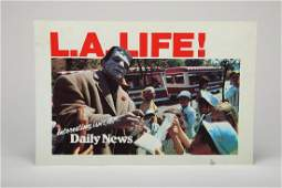 Vintage Plastic Daily News L.A. Life! Display Card