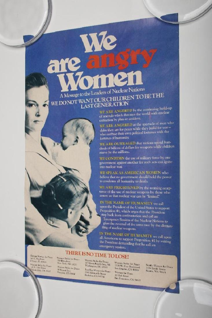 Vintage Angry Women Anti-Nuclear Political Poster
