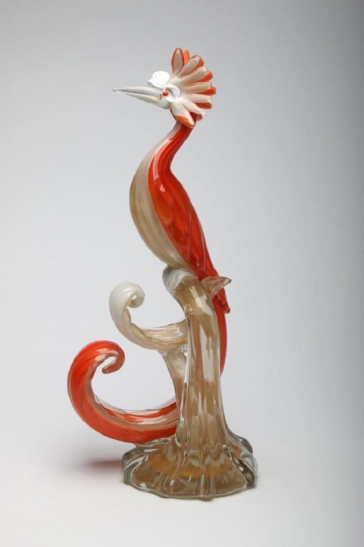Murano Glass Bird Sculpture - 4