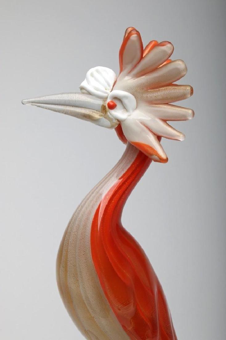 Murano Glass Bird Sculpture - 5