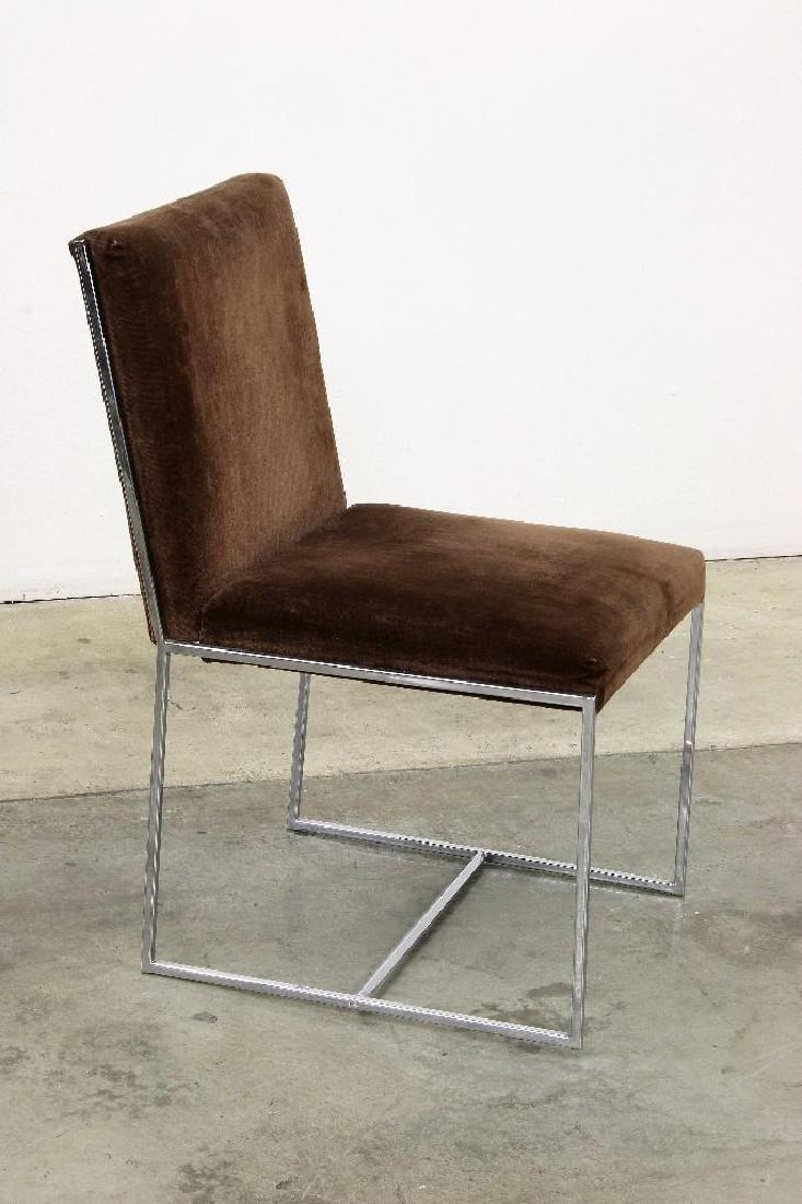 Milo Baughman Chrome Smoked Glass Table + 6 Chairs - 4