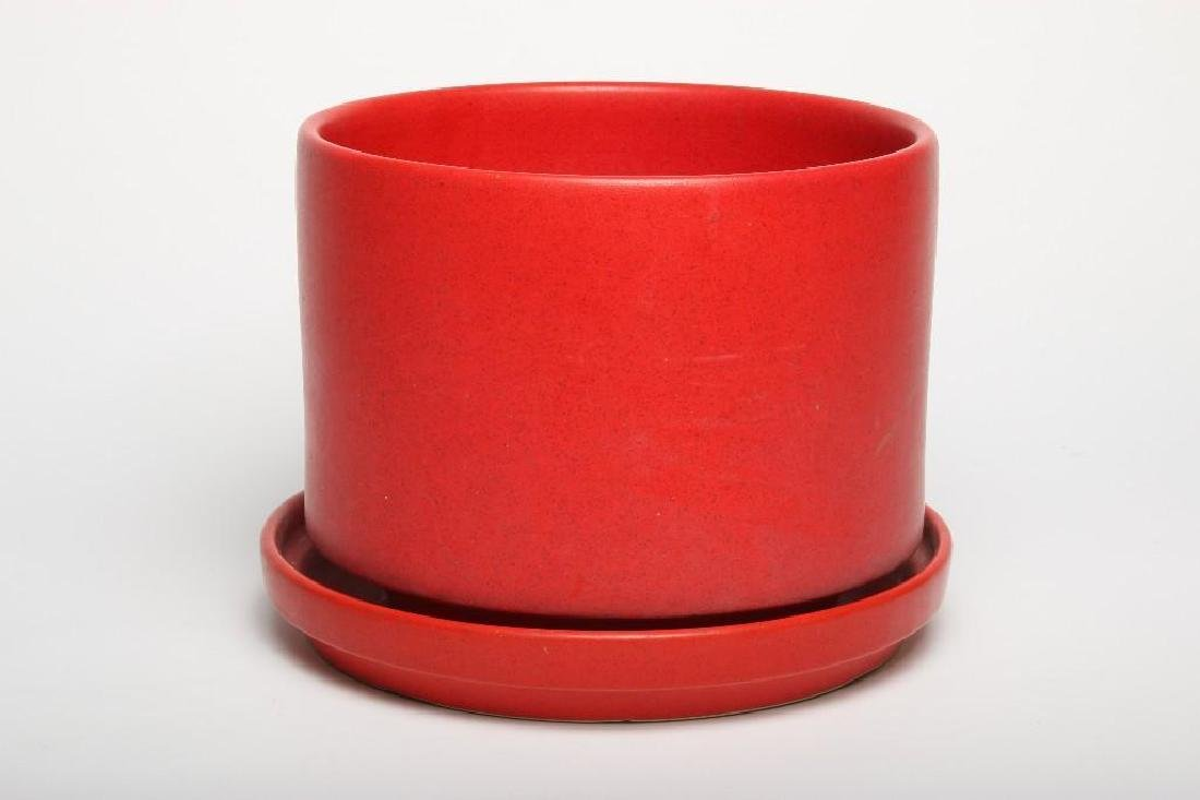 Gainey Red Planter and Dish