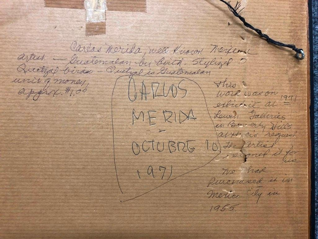 Carlos Merida (1891-1984) C. 1955 Signed Numbered - 5