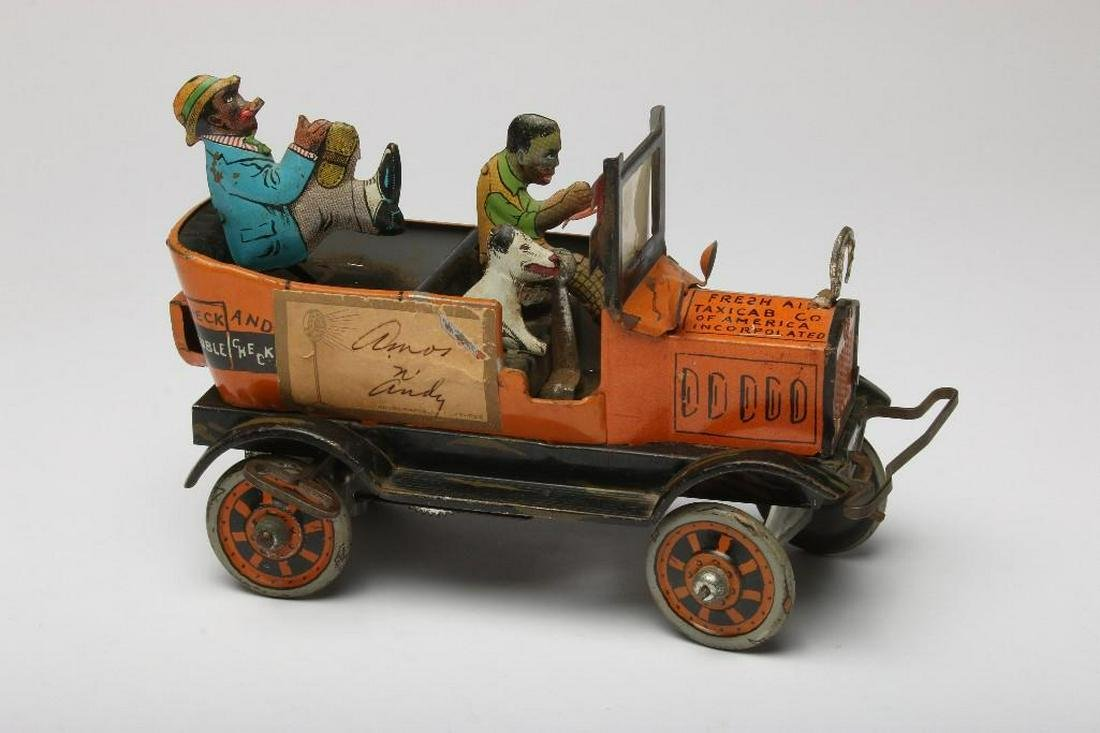 Vintage Louis Marx and Co. Car Signed by Amos 'n' Andy