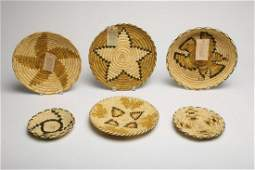 Group of 6 Native American Indian Papago Baskets