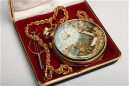 Arnex Reuge Swiss Automaton Musical Pocket Watch