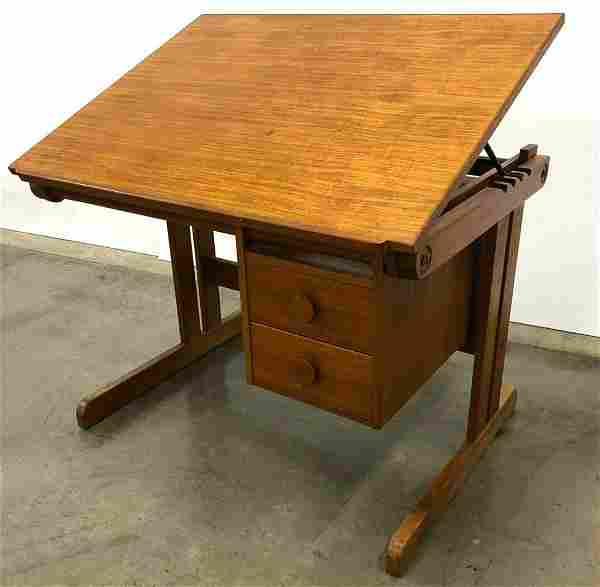 H. Sigh & Sons MCM Danish Modern Teak Drafting Desk