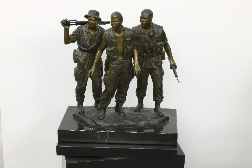 Frederick Hart (1943-1999) Bronze Sculpture of Soldiers