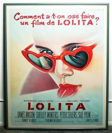 1962 French Movie Poster, Lolita (1962) Roger Soubie