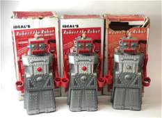 Lot of 3 Robert the Robot Vintage Talking Toys by Ideal