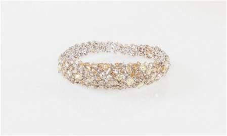 Customized 18K White Gold And Diamond Bracelet